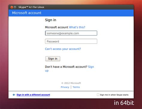 sign in skype for linux adds windows live login goes multi arch