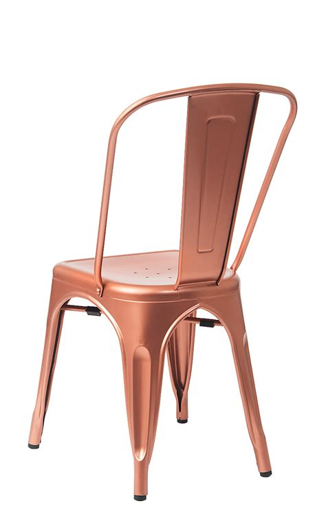 Rose Copper Finish Tolix Chair ? TableBaseDepot