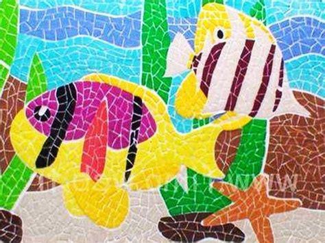 cara membuat kolase mozaik contoh gambar mozaik dari biji bijian contoh desain rumah