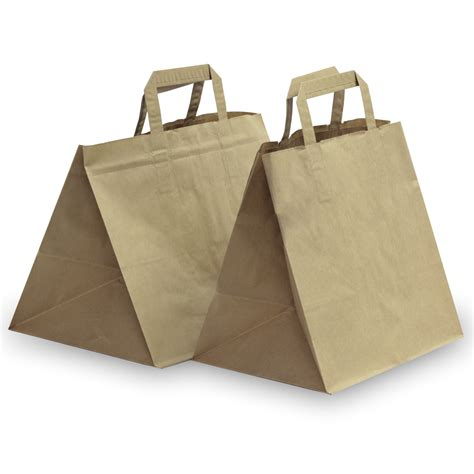 Carrier Bags by Brown Patisserie With Flat Handles Carrier Bag Shop