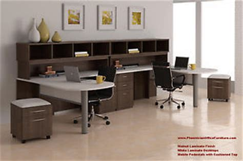 2 person l shaped computer desk set of 2 person l shaped desk and hutch office
