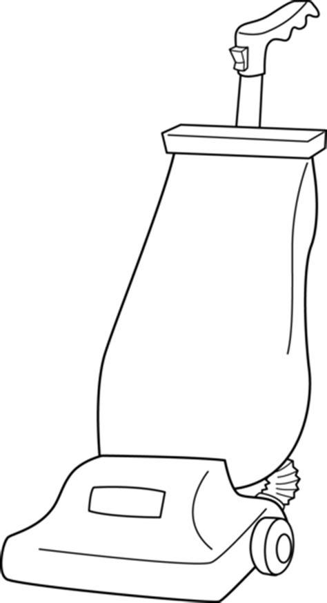 Vacuum Cleaner Line Art - Free Clip Art