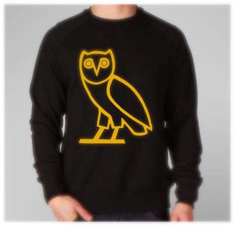 drake ovo sweater ovoxo ovo owl metallic gold logo hoodie from yobi apparel