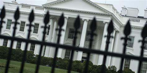 White House Fence by White House Intruder Overpowered Secret Service Officer