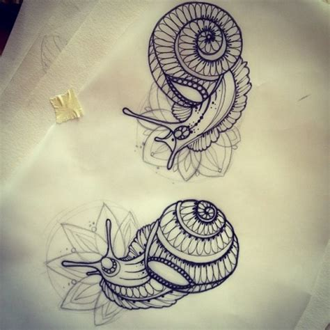 snail tattoos