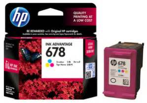 Cartridge Bekas Hp 678 hp color ink cartridge 678 cz108aa original