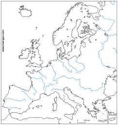 european rivers blank map