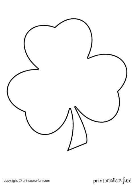 shamrock for st patrick s day coloring page print color