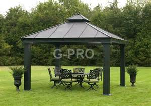 Outdoor Canopy Gazebo 12x12 by Huge Outdoor 12 X 12 Hardtop Pavilion Canopy Gazebo