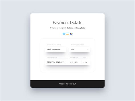 Credit Card Form Jquery Credit Card Form Craftwork Carefully Crafted Ui Assets For Designers