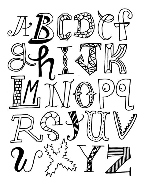 Letter Drawings Alphabet Letters Coloring Pages Realistic Coloring Pages