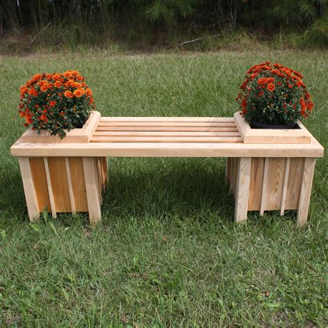 planting bench long cypress planter bench seat dfohome