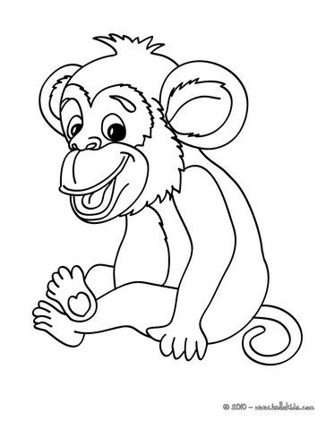 jungle monkey coloring pages monkey picture coloring pages hellokids com