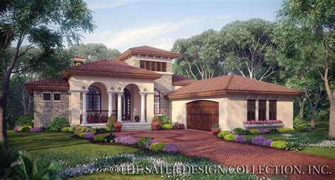 one story tuscan house plans plan of the week one story house plans sater design
