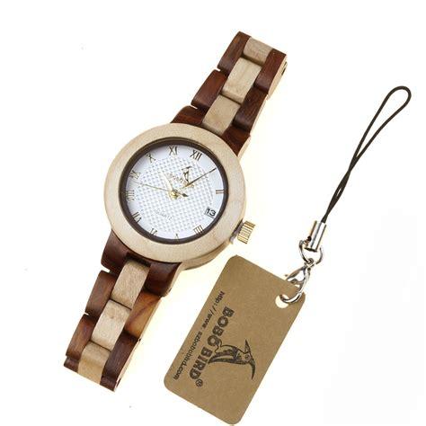 bobo bird jam tangan kayu analog wanita m19 brown