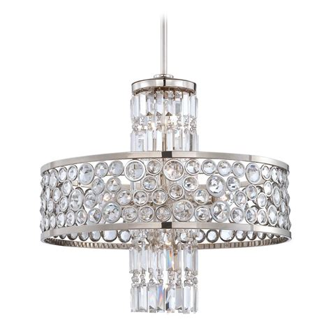 chandelier in polished nickel finish n6759 613