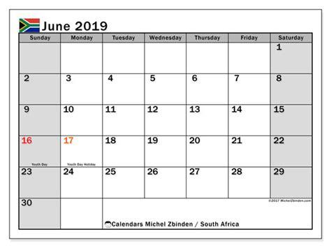 june  calendar south africa michel zbinden en