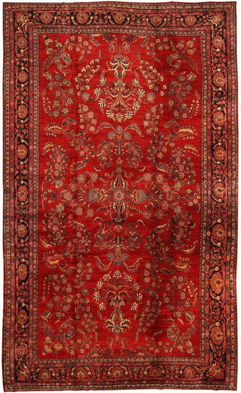 wolldecke rot antique sarouk rug 43439 nazmiyal collection