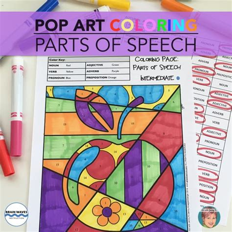 coloring page parts of speech beginner quadrilateral robots