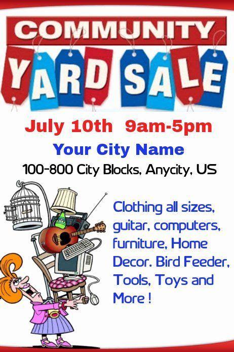 yard sale flyer template beautiful munity yard sale