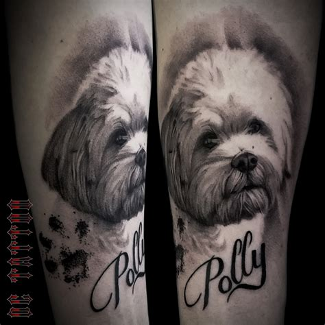 dog portrait tattoo by disse86 on deviantart