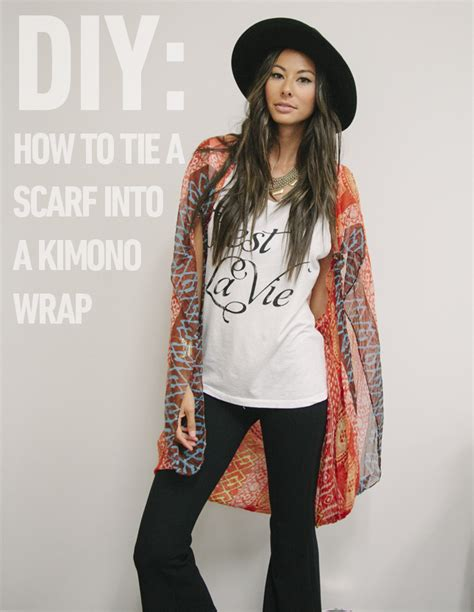 diy how to tie a scarf into a kimono wrap