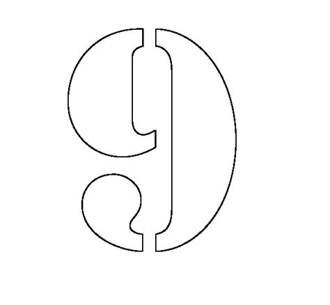 number stencil templates free coloring pages of number stencils