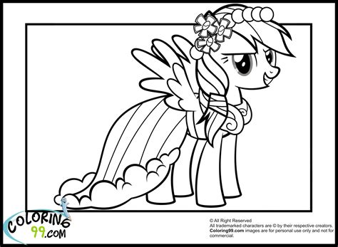 Rainbow Dash Dress Coloring Page | rainbow dash colouring pictures google search kids