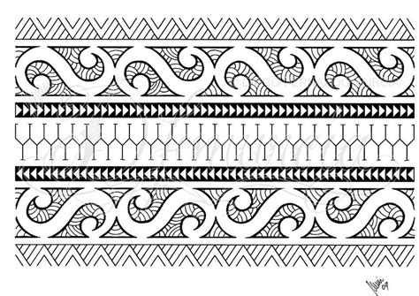 pattern band tattoo polynesian armband 01 by dfmurcia on deviantart paper