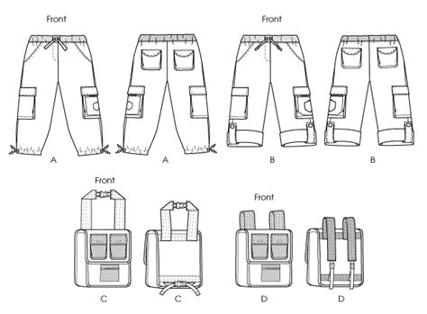 pattern review template mccall s 6502 children s boys girls pants and backpacks