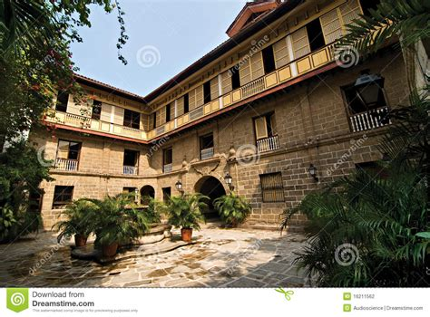 ancestral house music old filipino ancestral house or mansion courtyard stock photography image 16211562