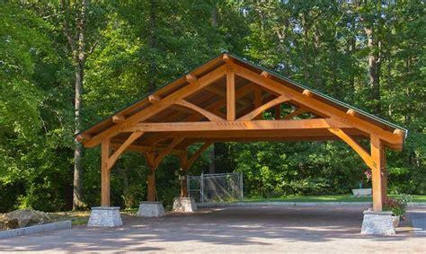 Carports Plans by Custom Built Wood Carports Diy Post And Beam Carport
