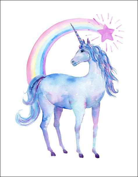 printable unicorn free printable watercolor unicorn pictures oh my creative