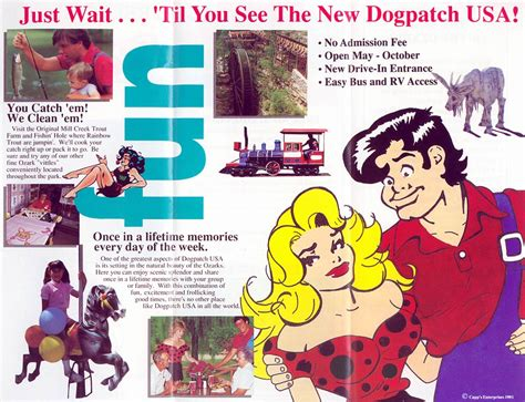 dogpatch usa map theme park brochures dogpatch usa theme park brochures