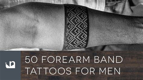 50 forearm band tattoos for men youtube