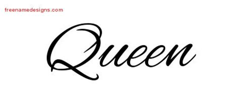queen archives free name designs