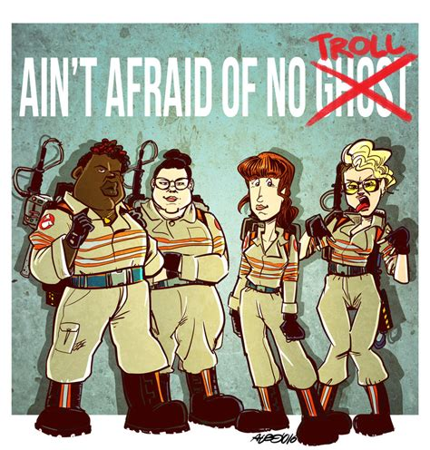 I Aint Afraid Of No Ghost Outline In Color by Ghostbusters 2016 Deviantart Favourites