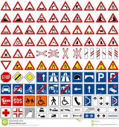 accumulazione dei segnali stradali 1 illustrazione