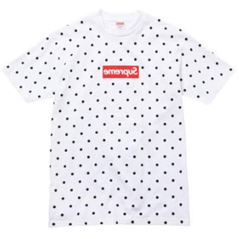 supreme play supreme x comme des garcons box logo t shirt white