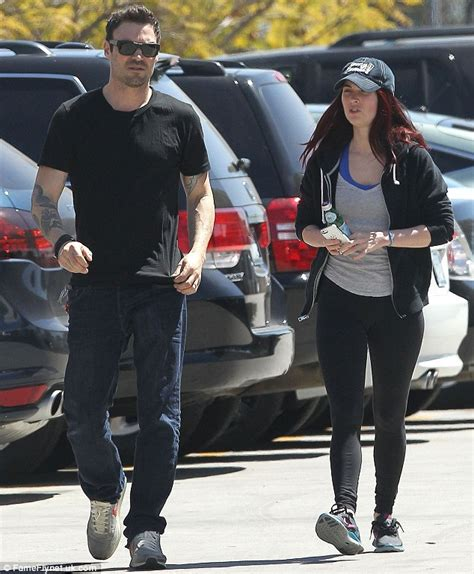 megan fox opts for the fresh faced look as she steps out