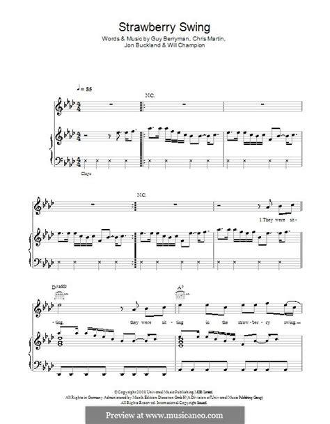 strawberry swing chords strawberry swing coldplay by c martin g berryman j