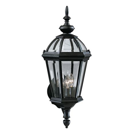 Kichler Lights Outdoor Kichler Lighting 9251bk 3 Light Trenton Incandescent Outdoor Sconce Black Atg Stores