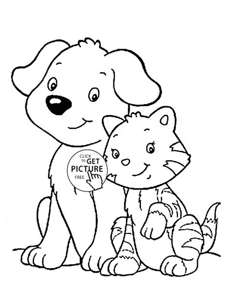 animal coloring pages kitten pet animals images for kids