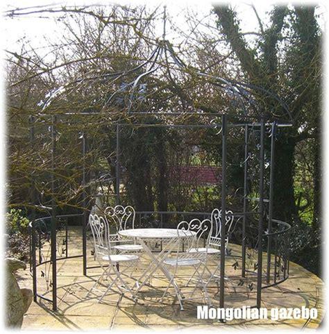 metal garden gazebo mongolian style metal garden gazebo garden