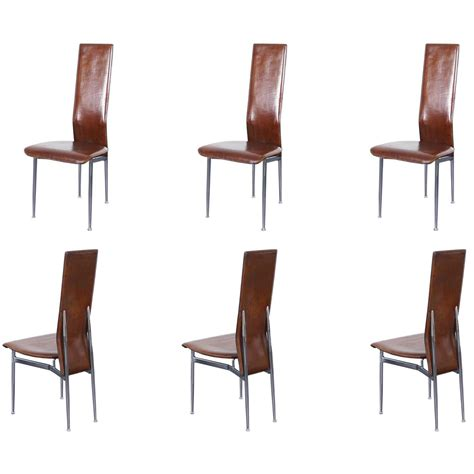 Italian Dining Room Chairs Italian Leather Dining Chairs For Sale At 1stdibs