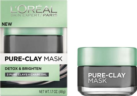 Loreal Clay Mask Purify review l or 233 al revitalift bright reveal collection