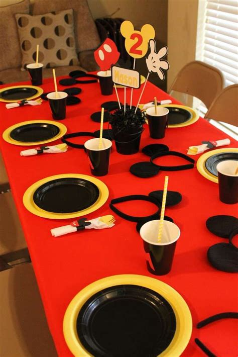 Mickey Mouse Birthday Party Ideas Mickey Mouse Birthday Mickey Mouse Table