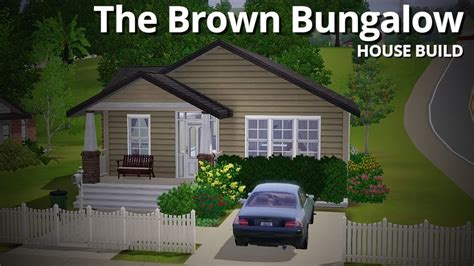 The Sims 3 House Building   The Brown Bungalow   YouTube