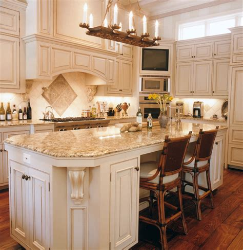 Houzz Kitchen Islands With Seating by Rains Way Residence Mediterranean Kitchen Houston