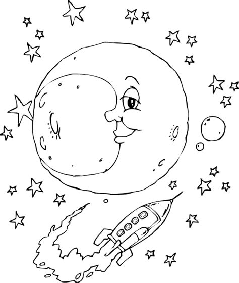 coloring page of full moon image gallery moon colouring